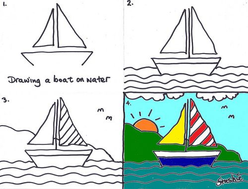 500x381 Easy Boat Drawing For Kids