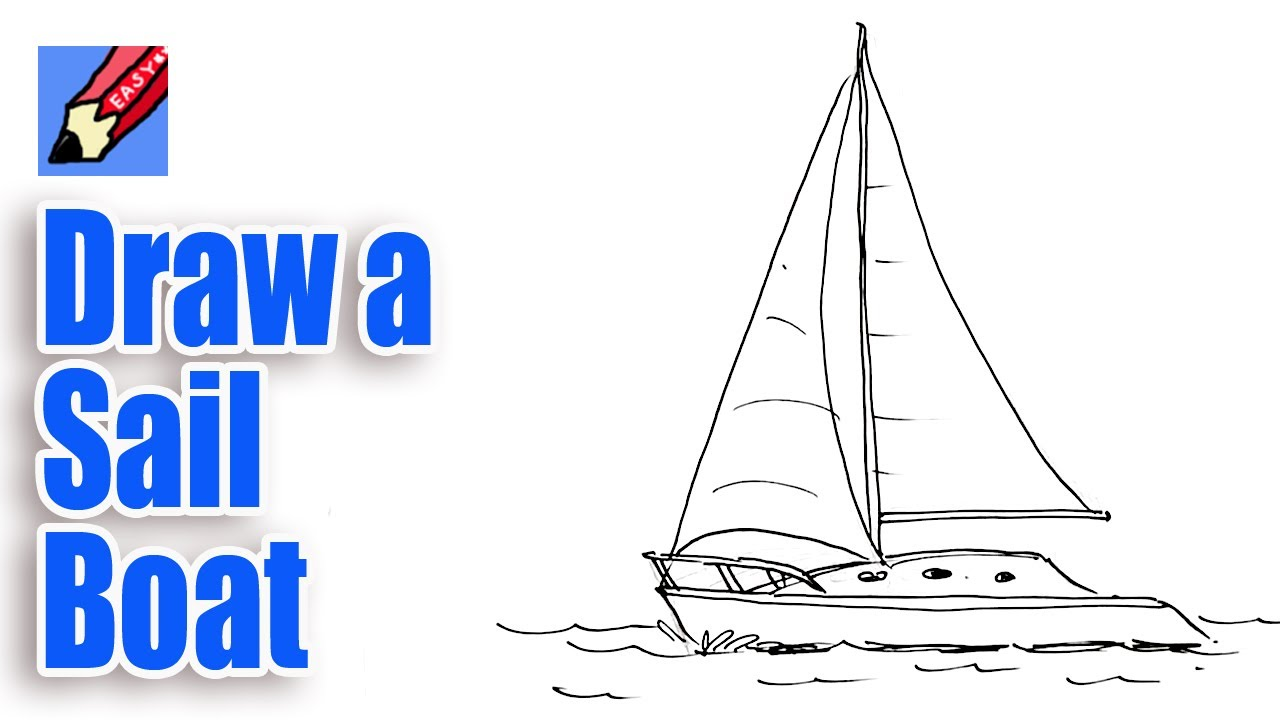 1280x720 How To Draw A Sailboat Real Easy