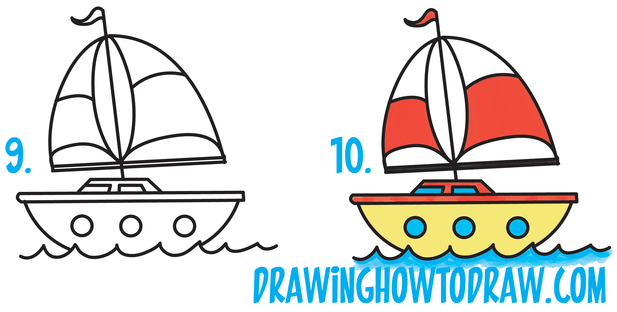 2374x1200 Simple Easy Boats To Draw Useful How A Boat In 7 Steps Easy