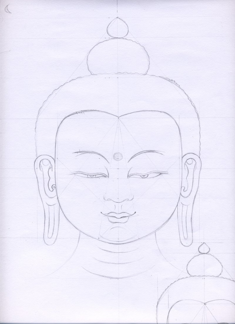 800x1101 Buddha Face By Shadowmydog