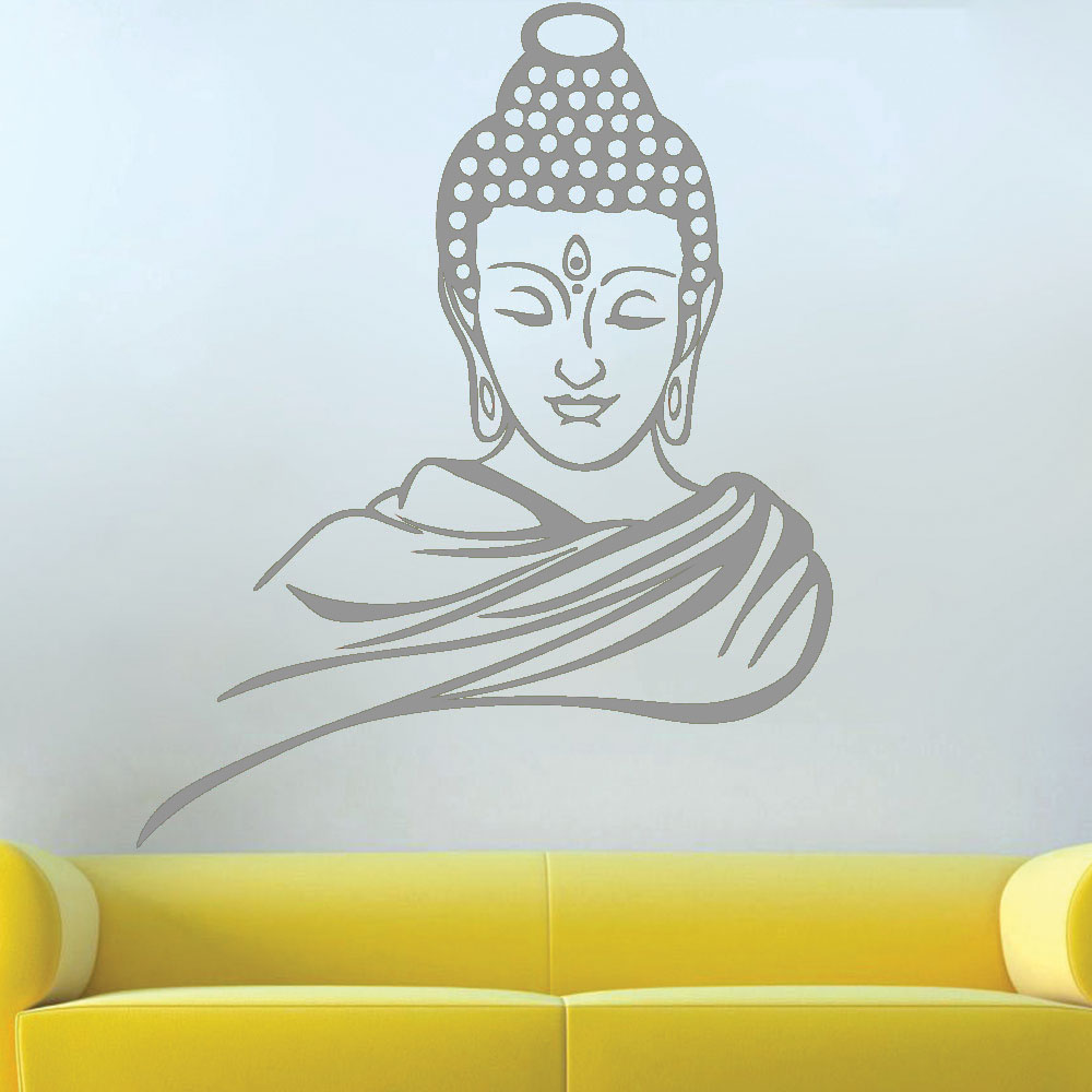 1000x1000 Guatum Buddha Religious Easy Peel Amp Stick Wall Decal Vinyl