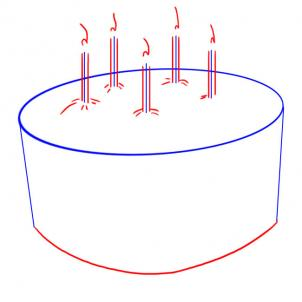 302x302 How To Draw How To Draw A Simple Birthday Cake
