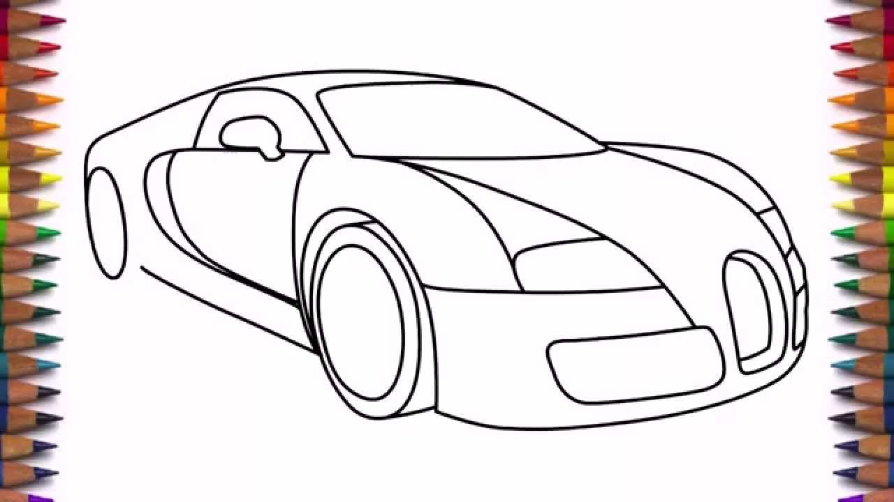 1280x720 How To Draw A Car Bugatti Veyron 2011 Drawing For Beginners
