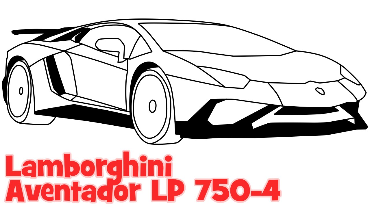 1280x720 How To Draw A Car Lamborghini Aventador Step By Step Easy Drawing