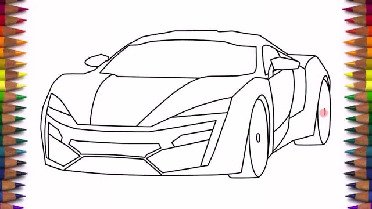 1280x720 How To Draw A Car Lykan Hypersport Easy Step By Step Drawing