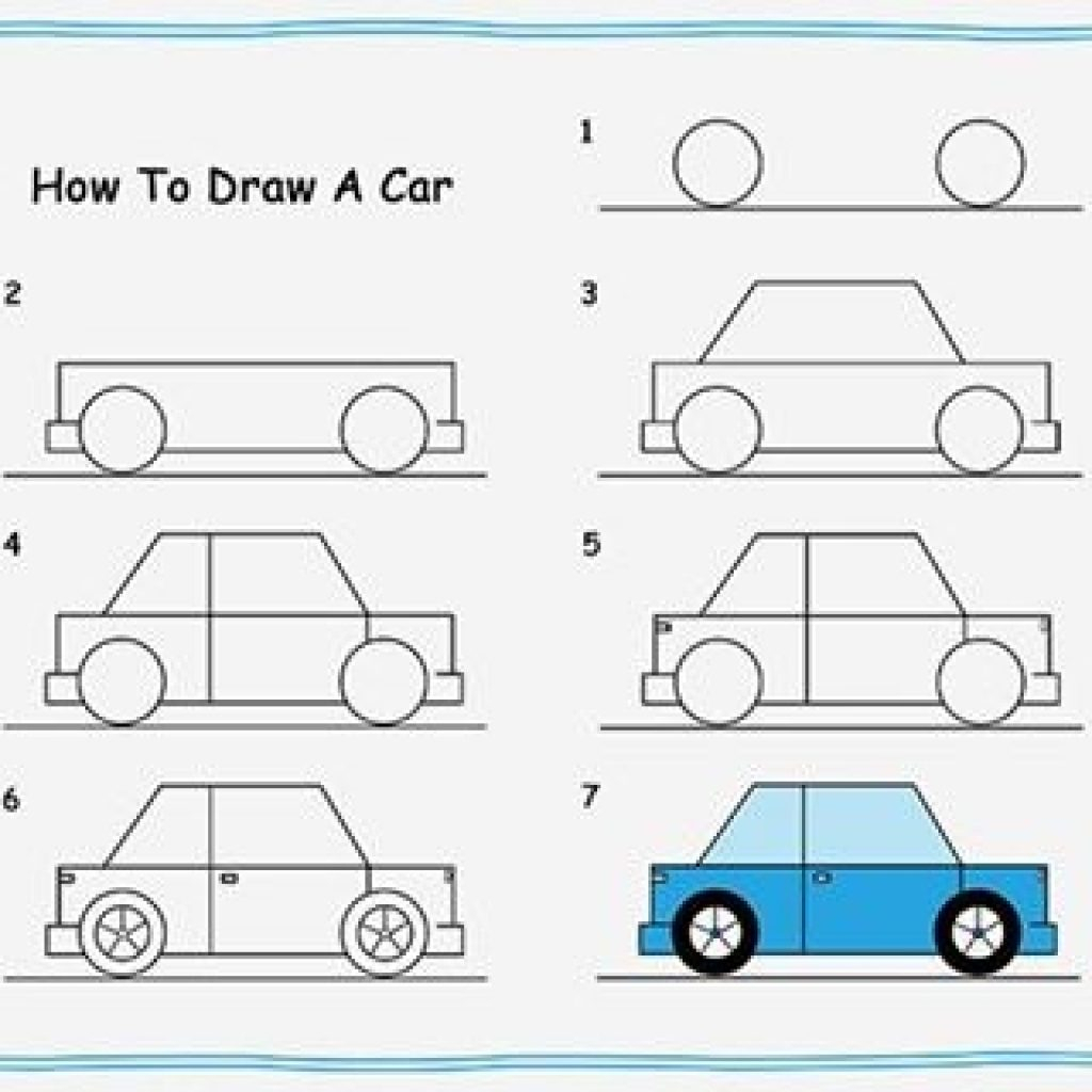 1024x1024 Ideas Of Draw Easy Cars Step By Step Art For Kid Idea