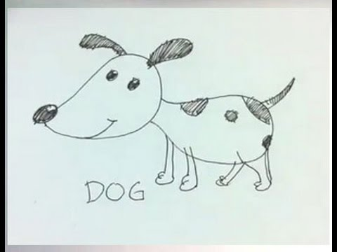 480x360 easy cartoon drawing how to draw a cartoon dog