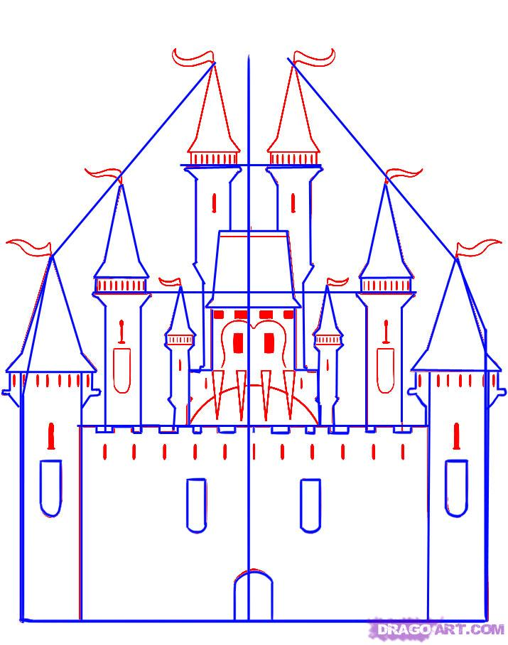 Easy Castle Drawing At Getdrawings Free For Personal Use Easy