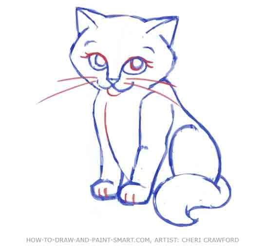 Easy Cat Face Drawing At Getdrawings Com Free For Personal Use