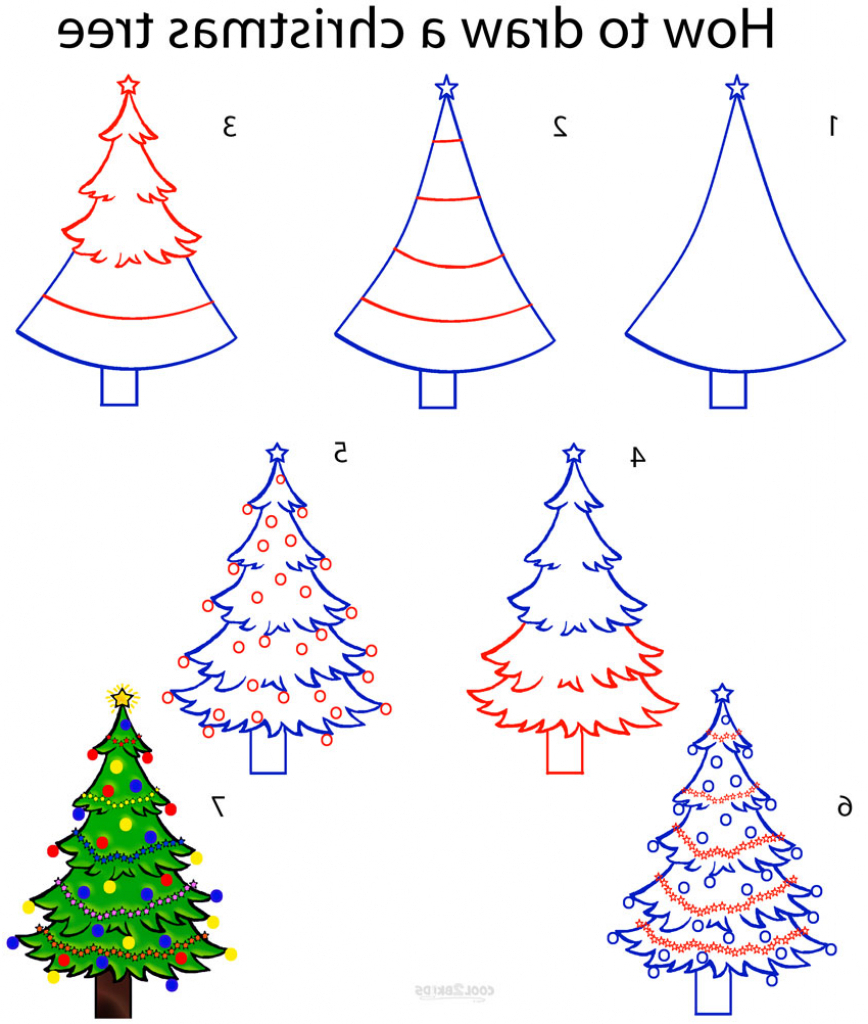868x1024 How To Draw Christmas Stuff Step By Easy Tree