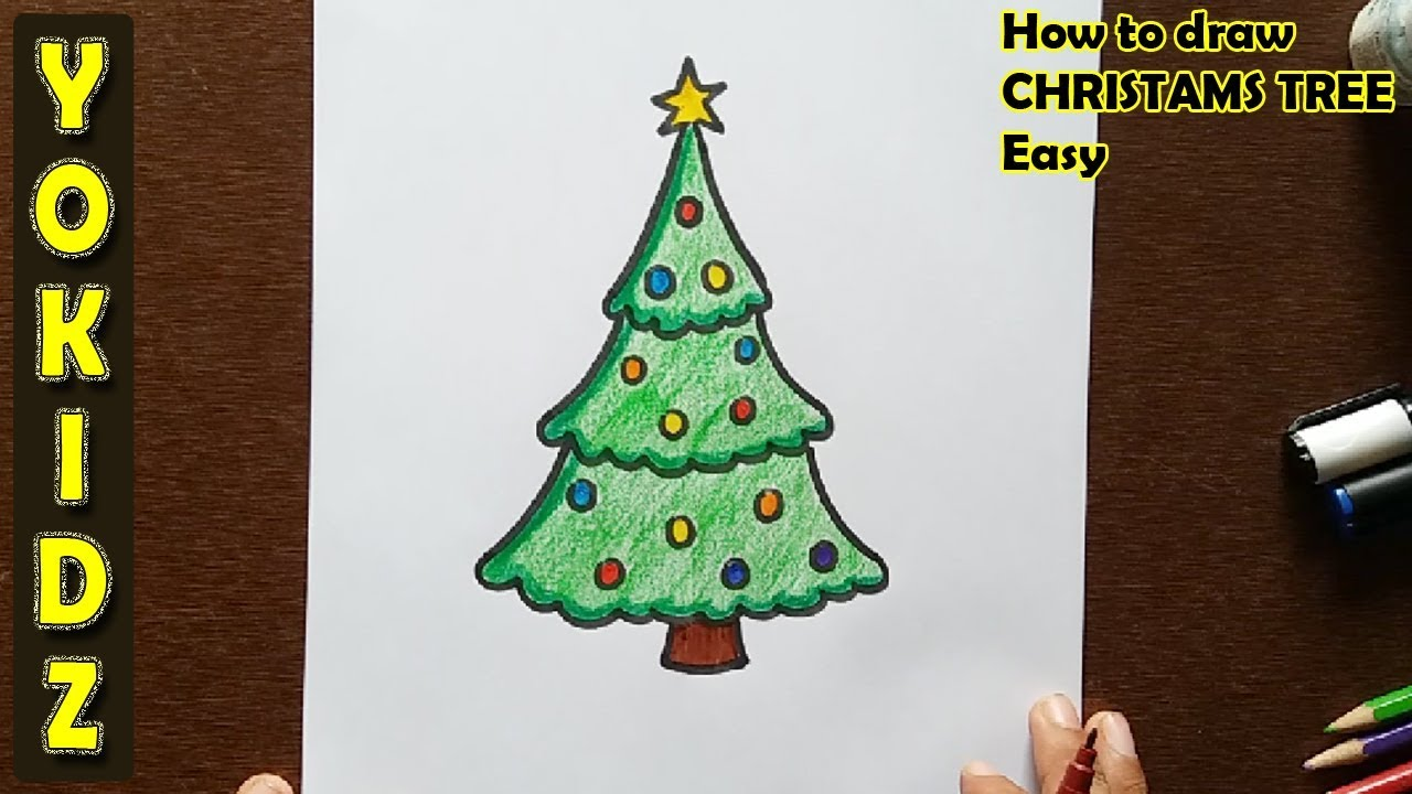 Easy Christmas Tree Drawing at GetDrawings.com   Free for personal ...