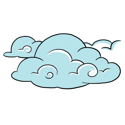 how to draw a cartoon cloud easy step by step