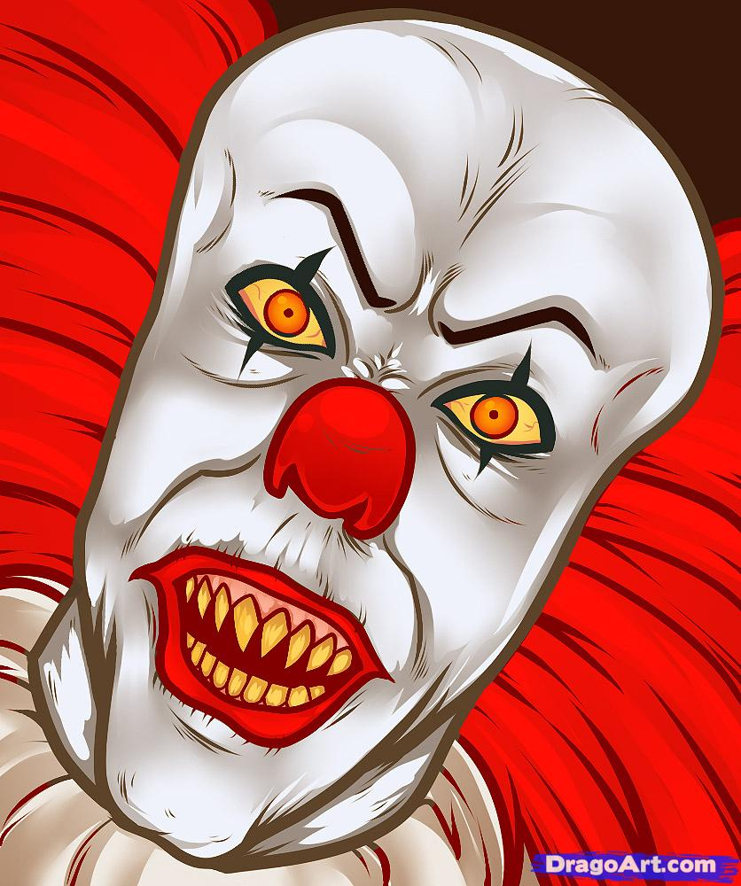 836x1000 How To Draw Pennywise, Pennywise, Pennywise The Clown, Step By