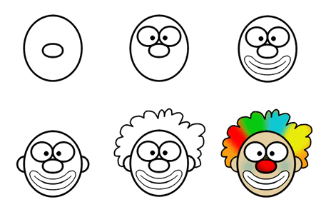 450x290 How To Draw Cartoon Clowns