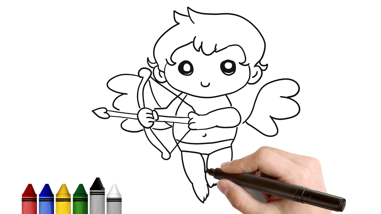 1280x720 How To Draw Simple Cupid For Valentine's Day Drawing For Kids