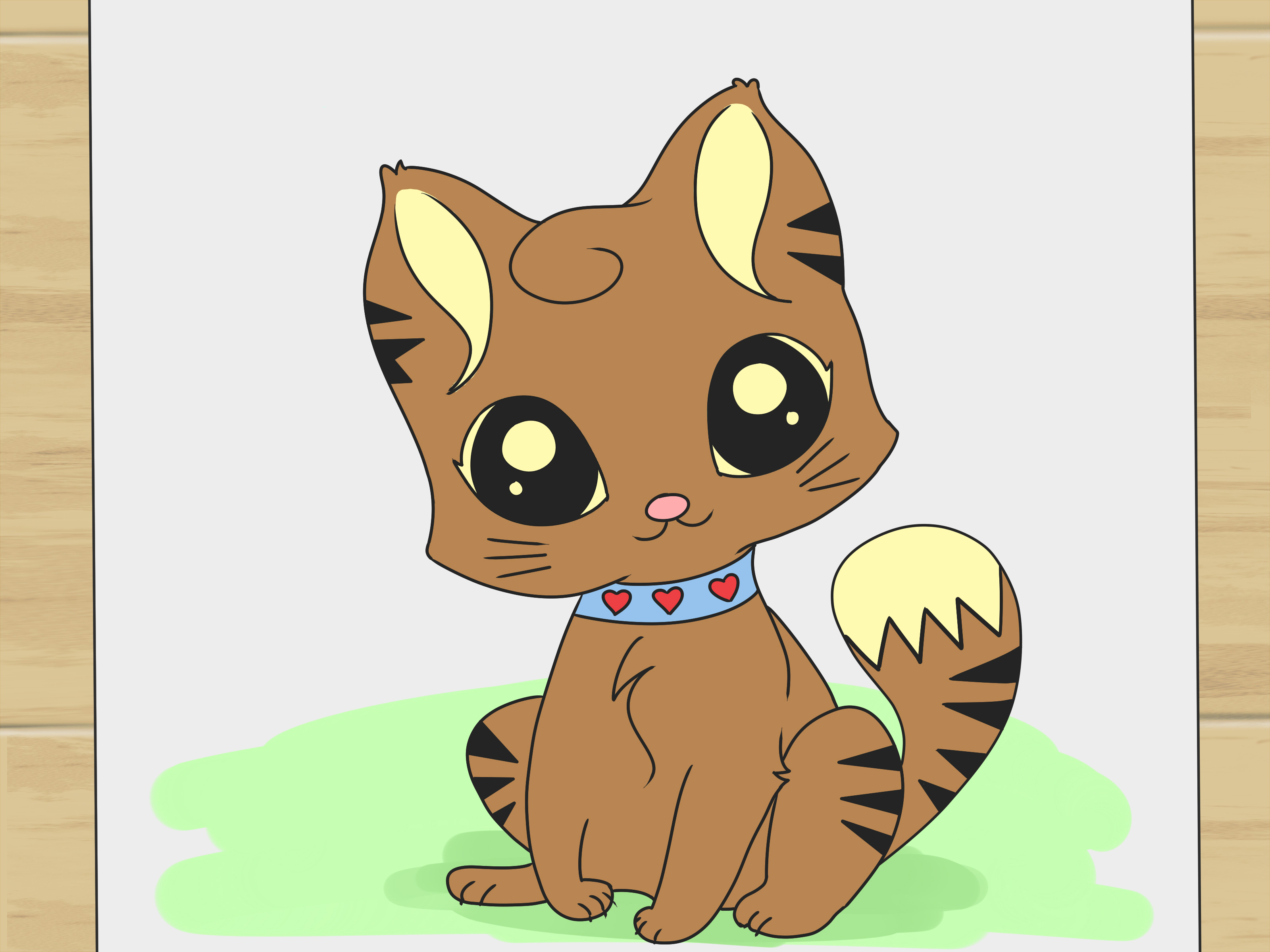 Easy cute cat drawing at getdrawings free for personal use 3200x2400 how to draw a cute cartoon cat 8 steps with pictures altavistaventures Image collections