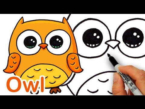 480x360 How To Draw A Cute Cartoon Owl Easy Step By Step