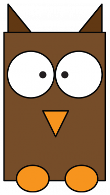 215x382 How To Draw An Owl For Kids, Wild Animals, Birds, Easy Step By