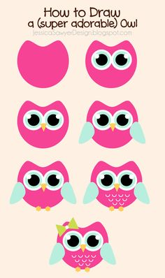 236x398 How To Draw An Owl. This Would Be Something To Do With My Kids