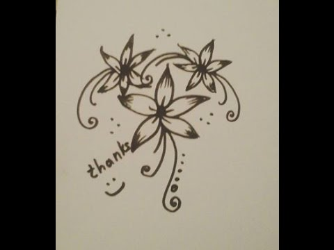 480x360 Easy And Beautiful Floral Design Drawing Tutorial 2