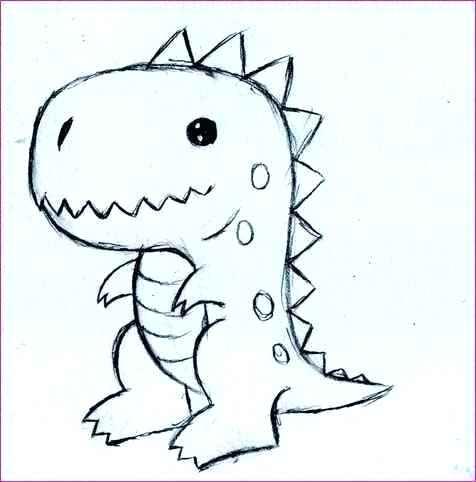 Easy Dinosaur Drawing at GetDrawings | Free download