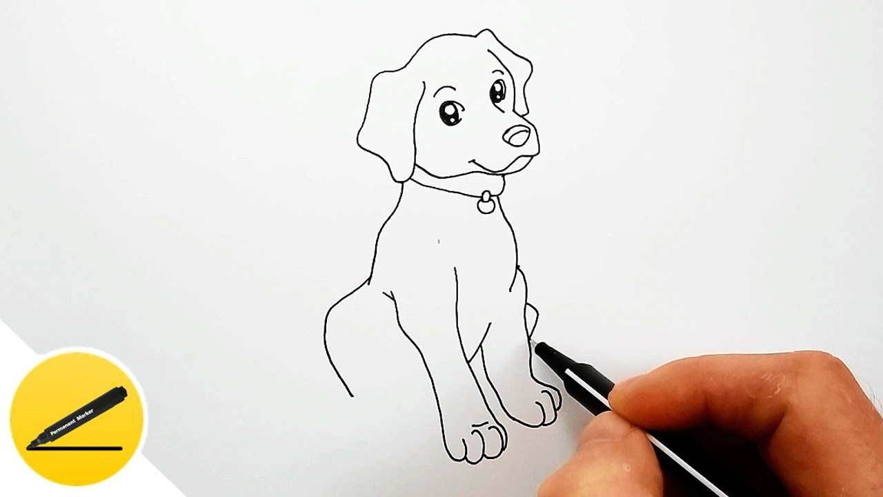 Easy Dog Drawing For Kids At Getdrawings Com Free For Personal Use