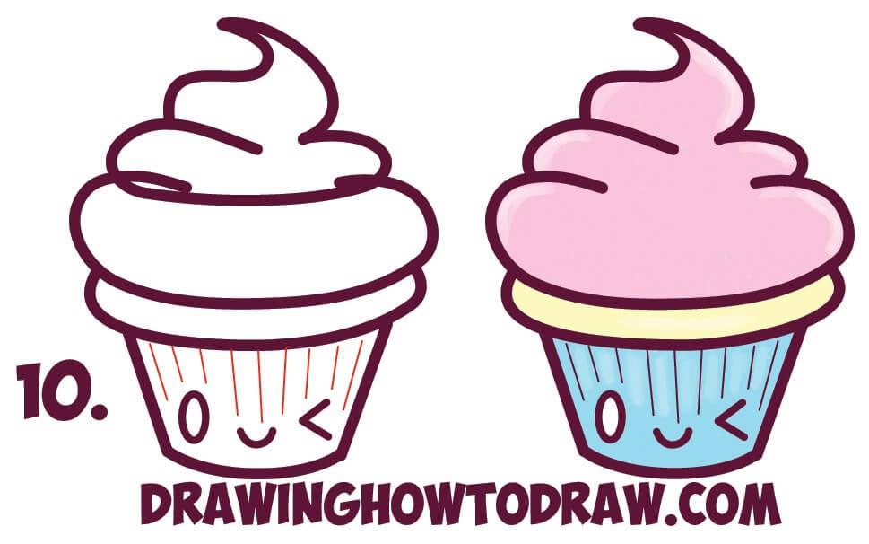 969x606 Cupcake Easy Drawing