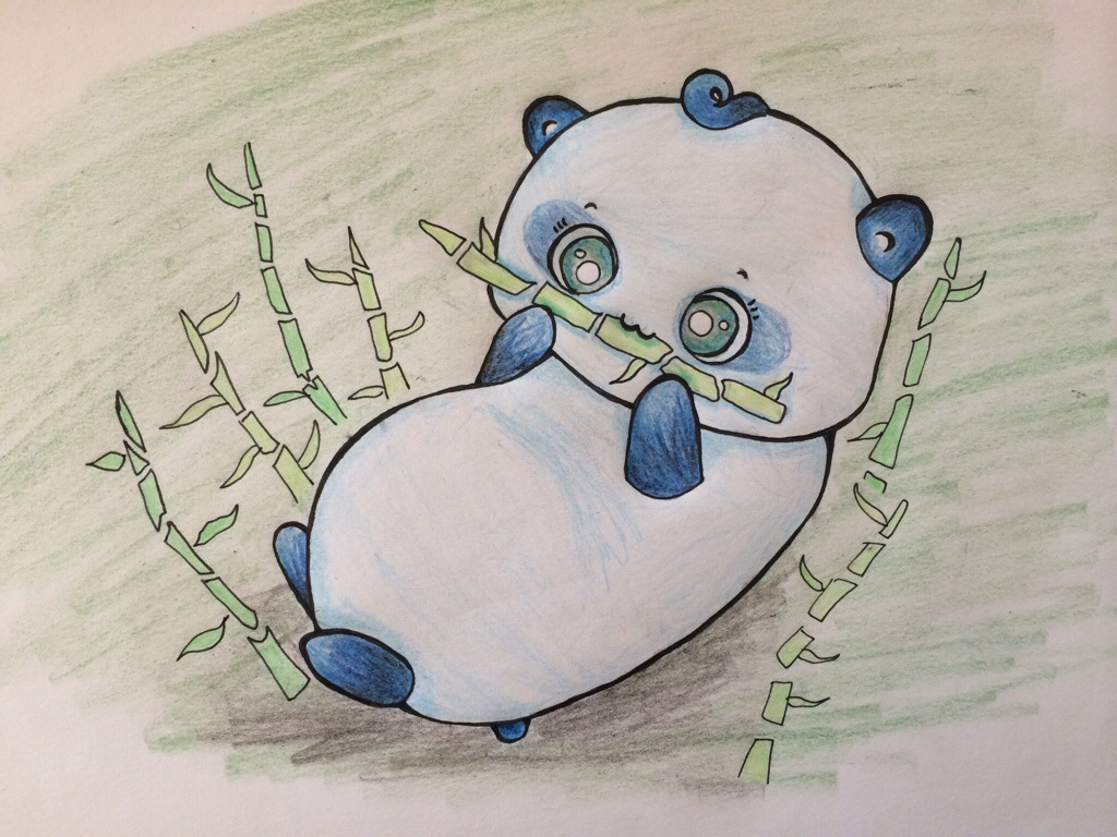 1024x768 How to Draw a Cute Easy Panda Drawing Animals