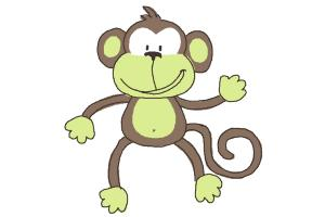300x200 How to Draw a Monkey Step by Step