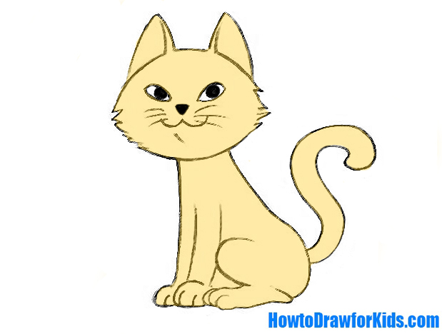 619x468 How To Draw A Cat For Kids Howtodrawforkids