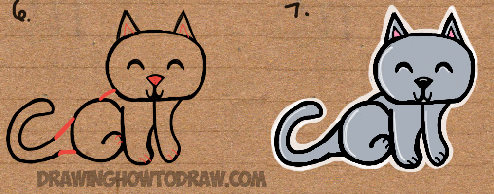 1015x399 How To Draw A Cat From The Word Cat Easy Drawing Tutorial For Kids