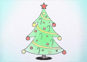 Line Drawing Xmas : Easy drawing christmas tree at getdrawings free for personal