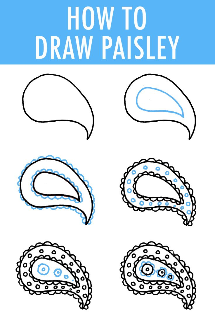 736x1102 How To Draw Paisley Drawing Projects, Drawings And Shapes