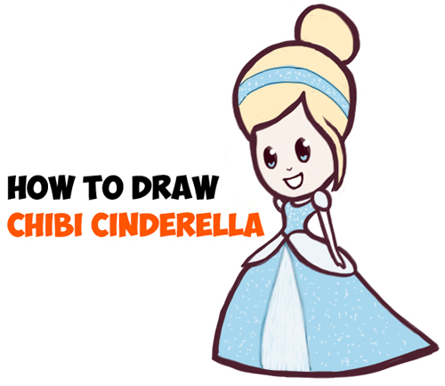 500x433 How To Draw Cute Baby Chibi Cinderella