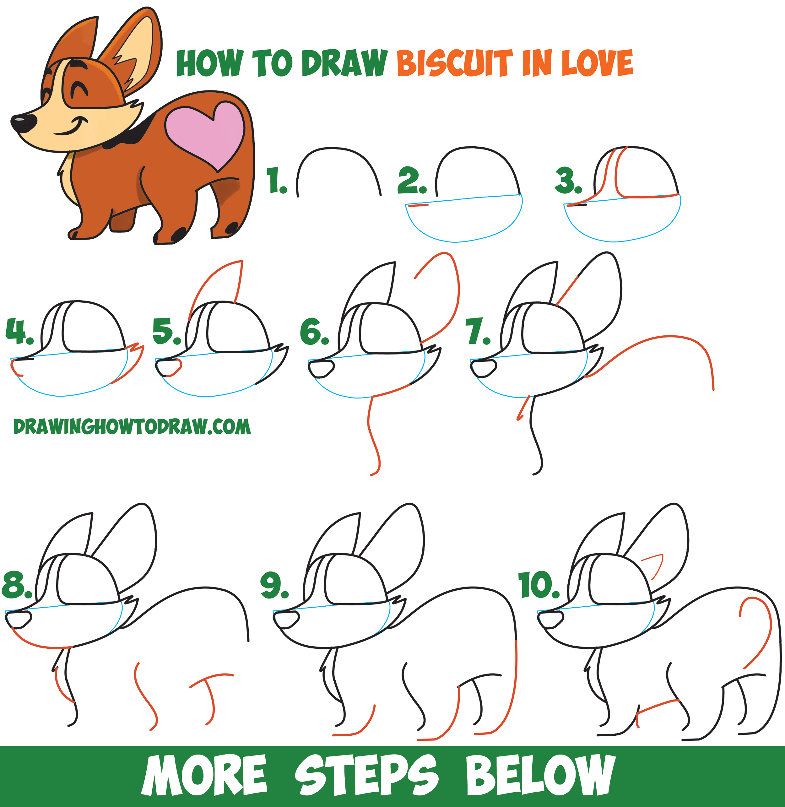 2500x2570 How To Draw Biscuit The Dog From Facebook Messenger