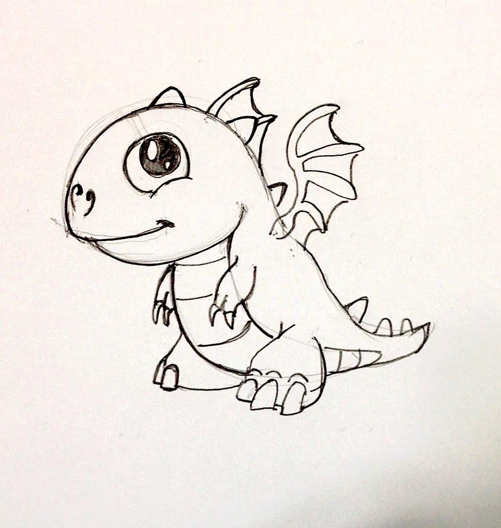 Dragon Easy Drawing: Easy Drawing Dragon At GetDrawings.com