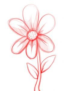213x302 Easy Sketches Of Flowers