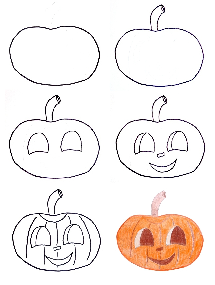 864x1148 pippi39s blog halloween drawings for kids - Halloween Drawing For Kids