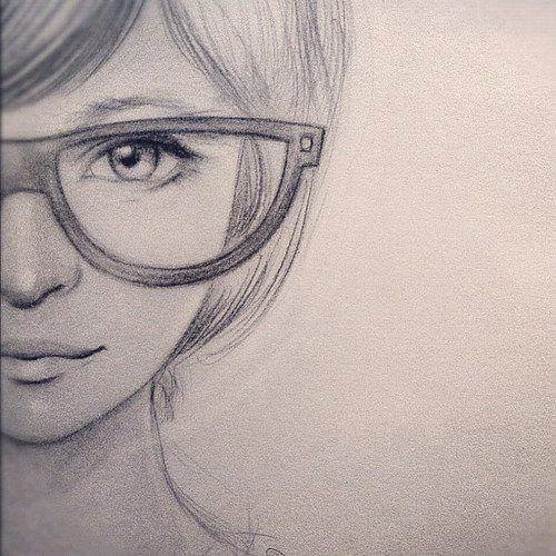 500x500 You can always find that is more about the nerd girl Drawing