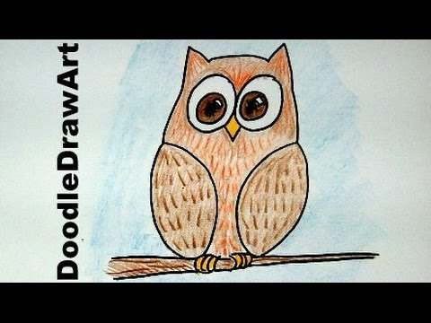 480x360 How To Draw An Easy Wise Old Owl Cartoon