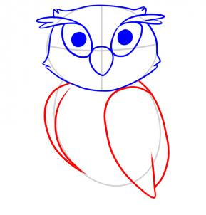 289x302 How To Draw How To Draw An Owl For Kids