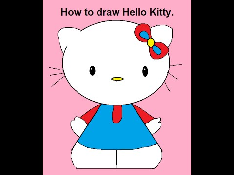 480x360 How To Draw Cartoon Characters Hello Kitty Step By Step
