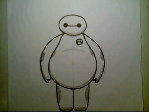 480x360 How To Draw Baymax From Big Hero 6 Disney Animated Movie Easy Cute