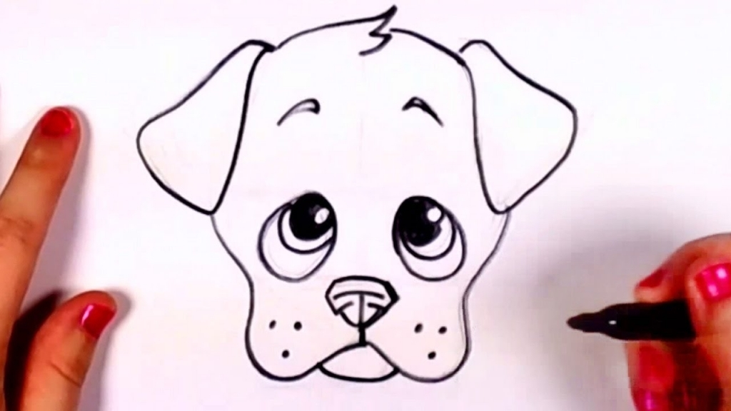 Easy Drawing Of Dog At Getdrawings Com Free For Personal Use Easy