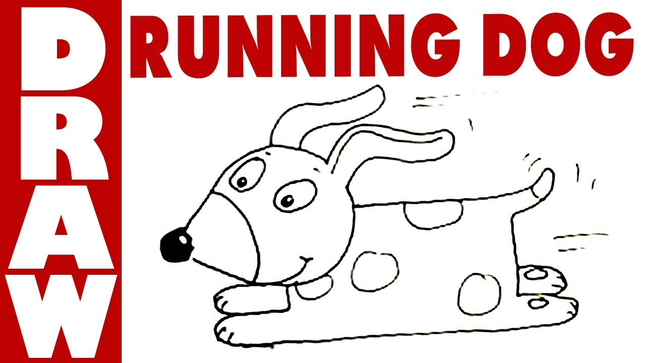 1280x720 How To Draw A Running Dog! (Very Easy)