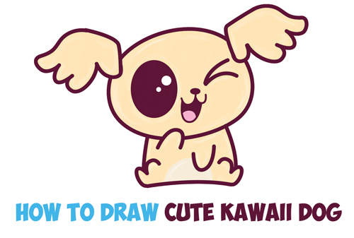 500x337 Pictures Cute Dog Drawing Easy,