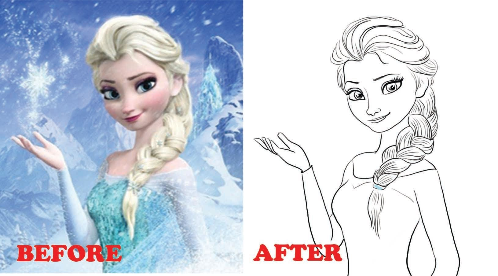 1630x903 How To Draw Elsa From Frozen Narrated Step By Step Part 1