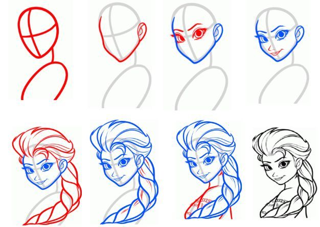 626x445 How To Draw Elsa