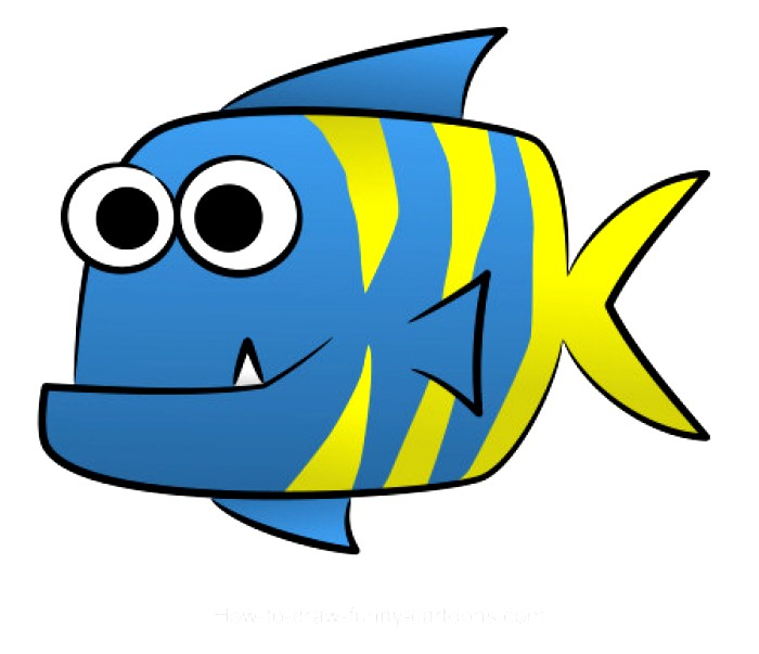 700x603 fish drawing easy
