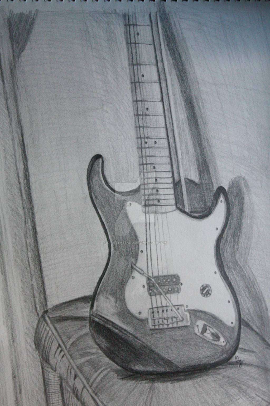 Easy Drawing Of Guitar...